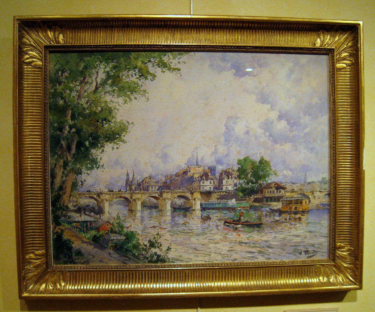 Vue sur le Pont Neuf et la Cité, tableau de Georges William Thornley
