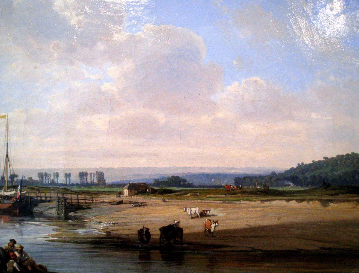 Le quai de Trouville, tableau de Charles Mozin