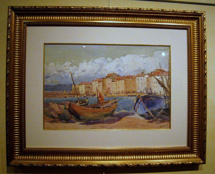 Le port de  Saint-Tropez, tableau de Georges William Thornley
