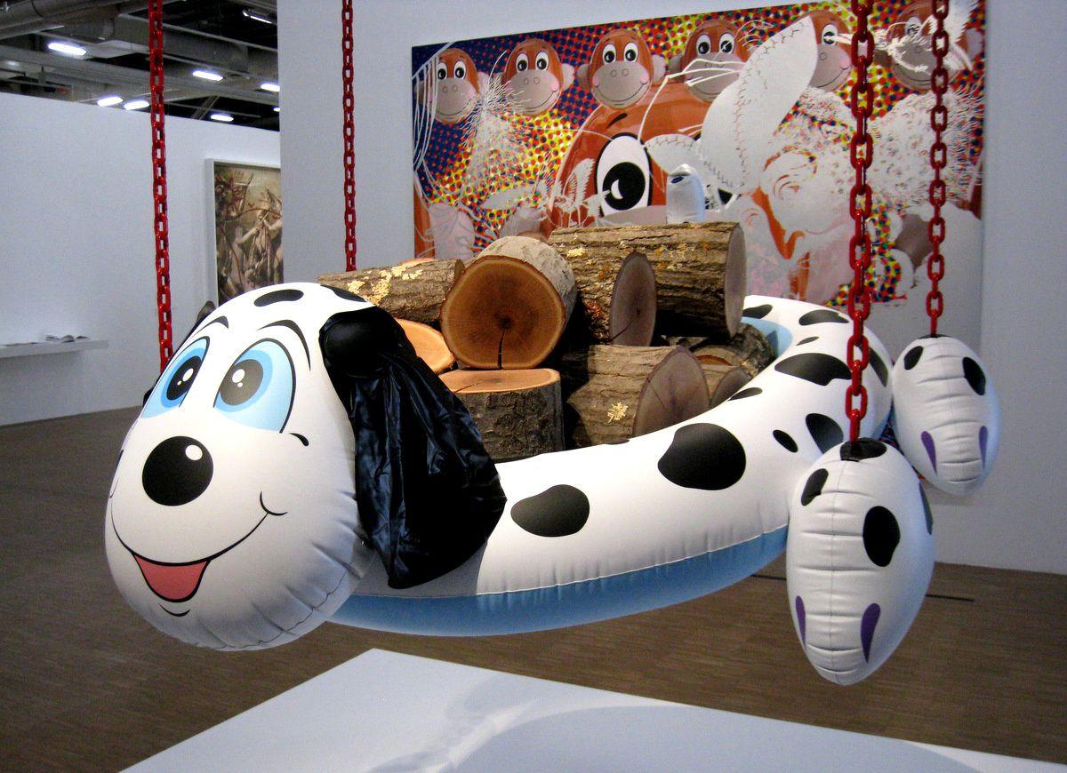 Dogpool (Logs) par Jeff Koons