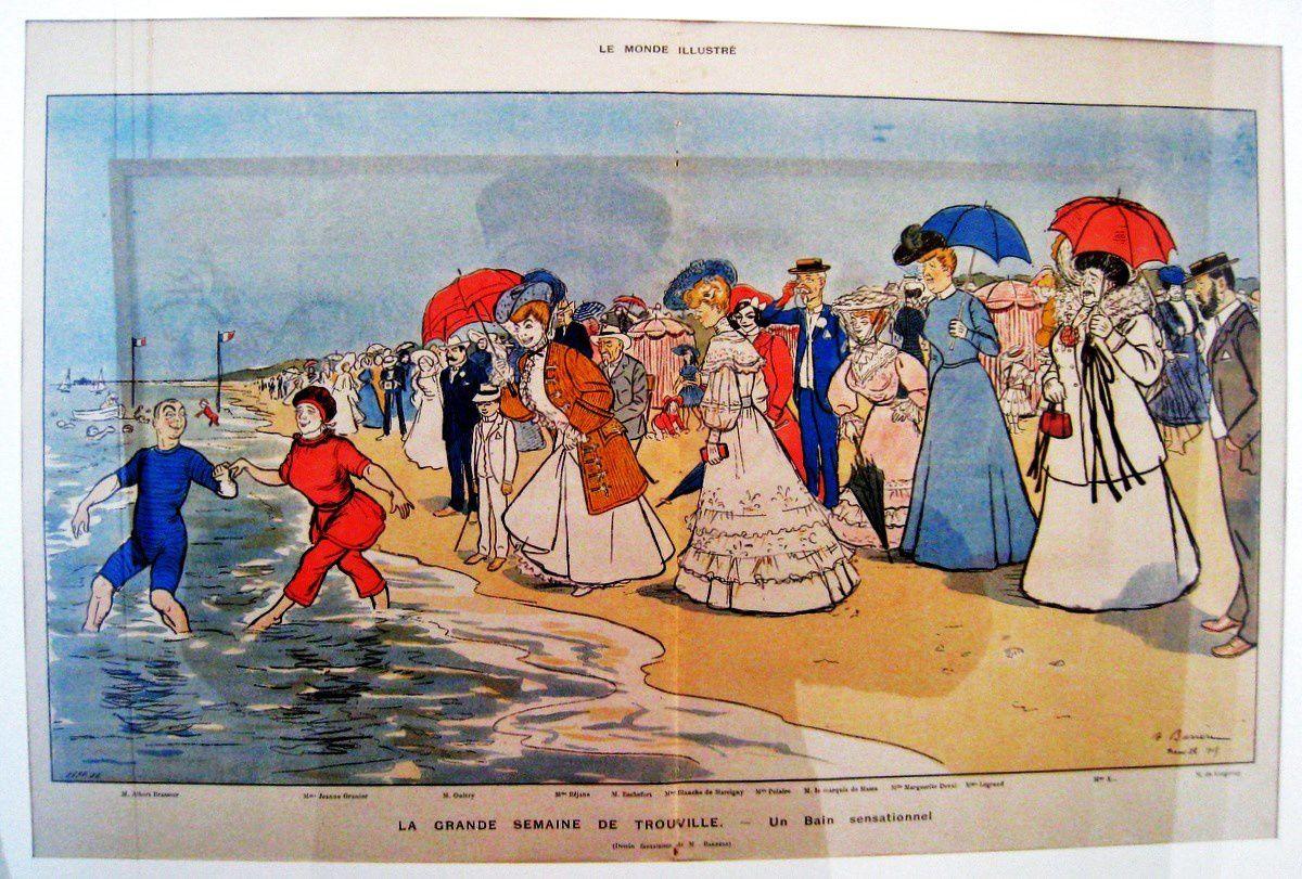 Aquarelle de Henry Gerbault et lithographie de Adrien Barrère