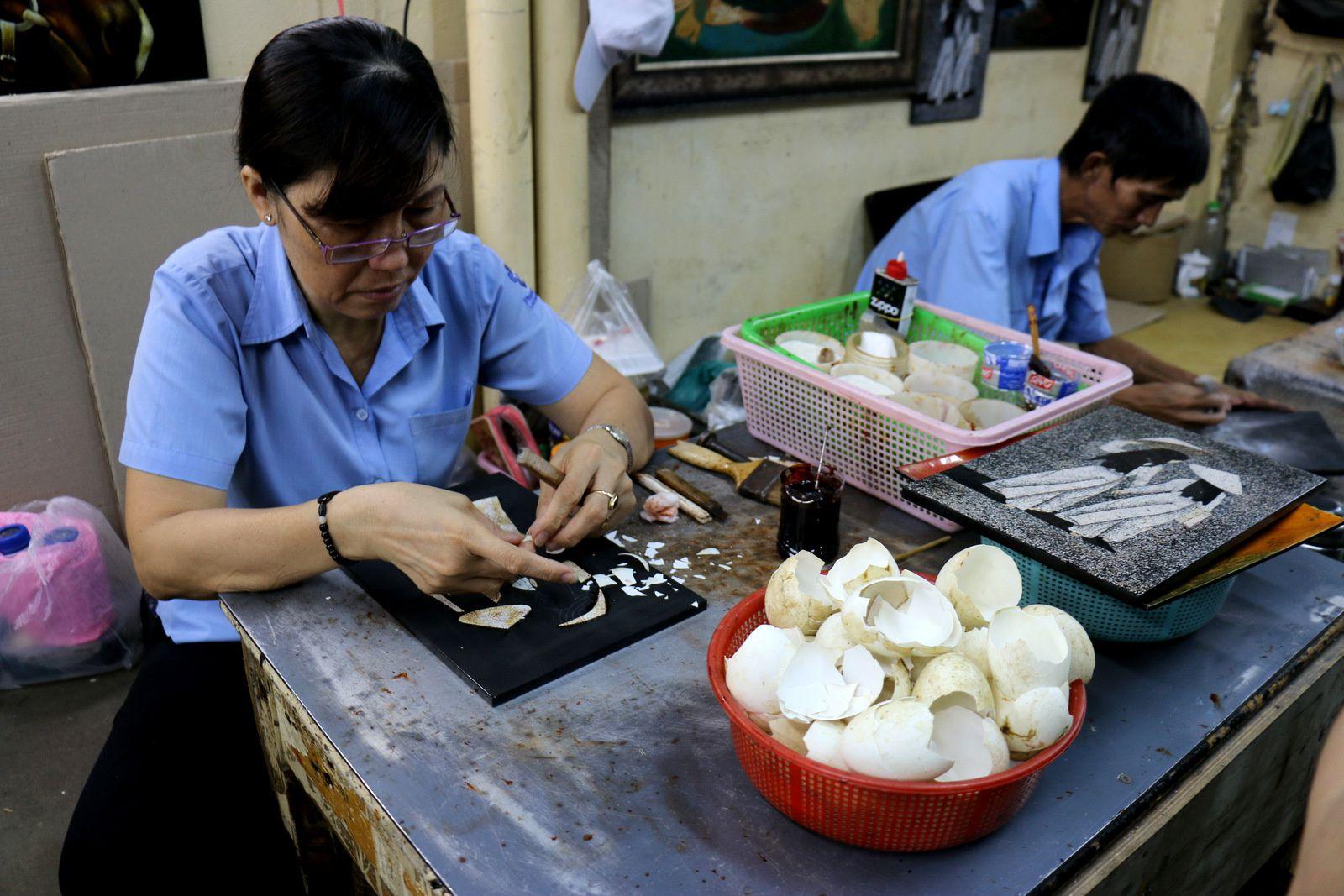 La fabrique de laques de Phuong Nam