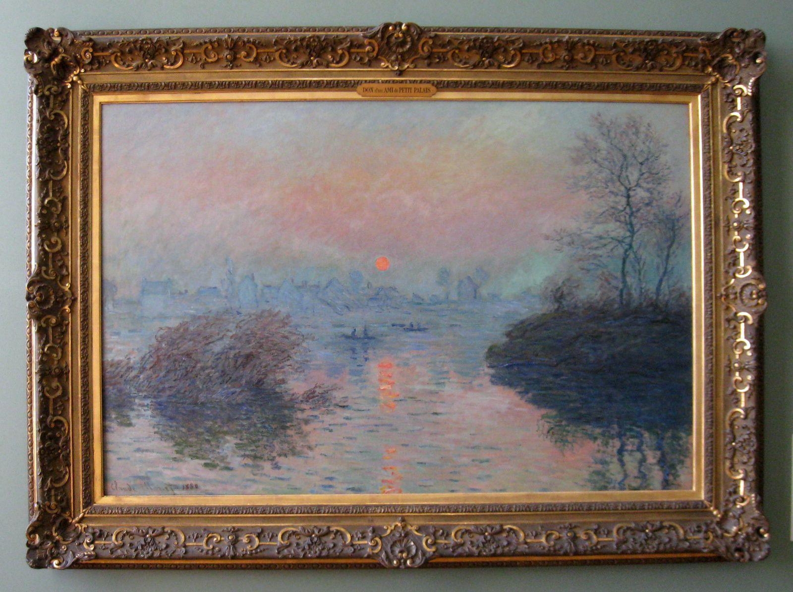soleil couchant ..., tableau de Claude Monet