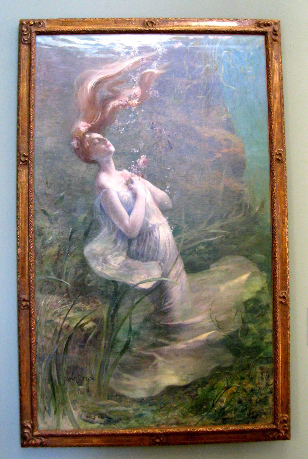 Ophélie, tableau de Paul Albert Steck