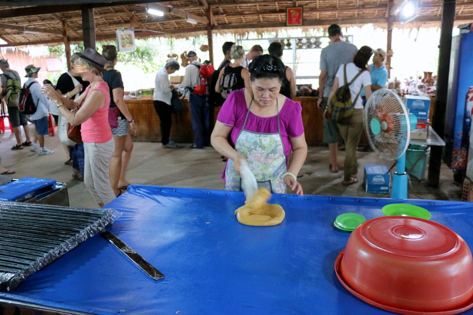 Usine de bonbons, île de Thoi Son (Vietnam)