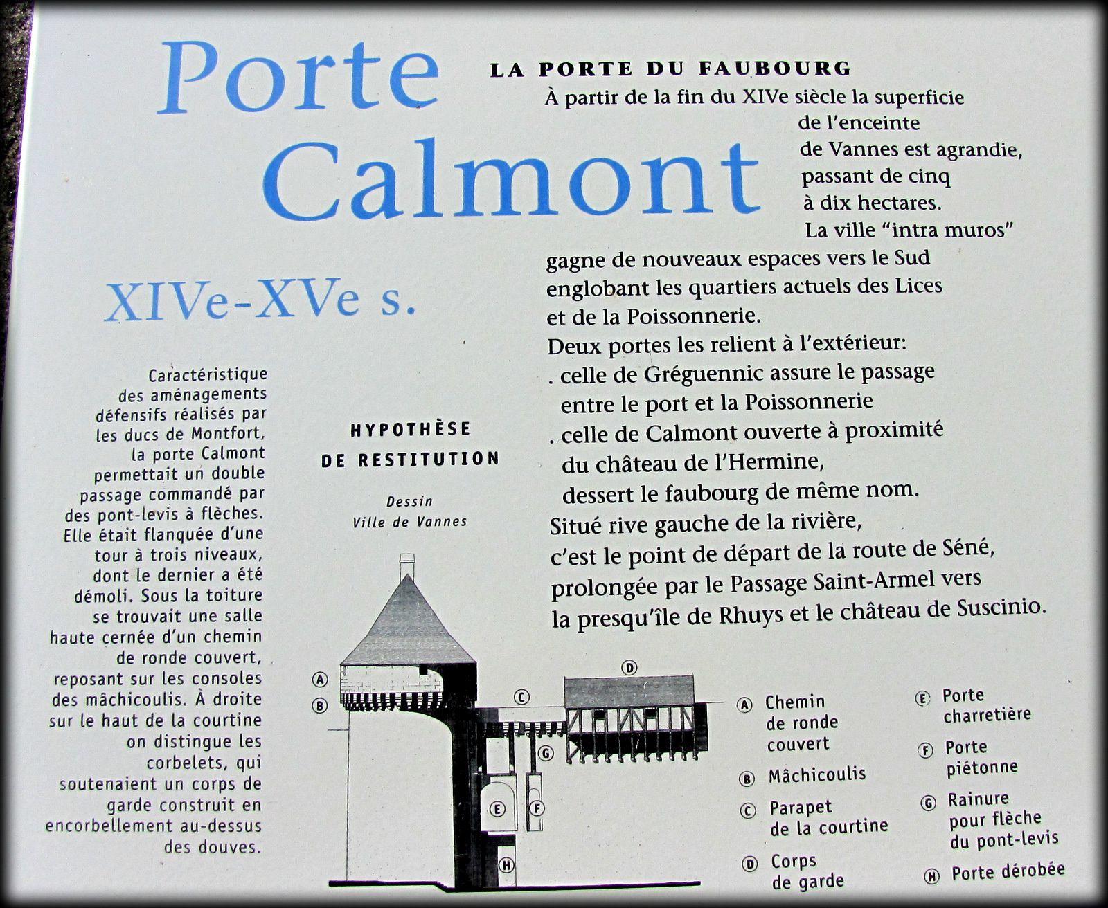 Porte Calmont (Vannes) et jardins du Château de l'Hermine