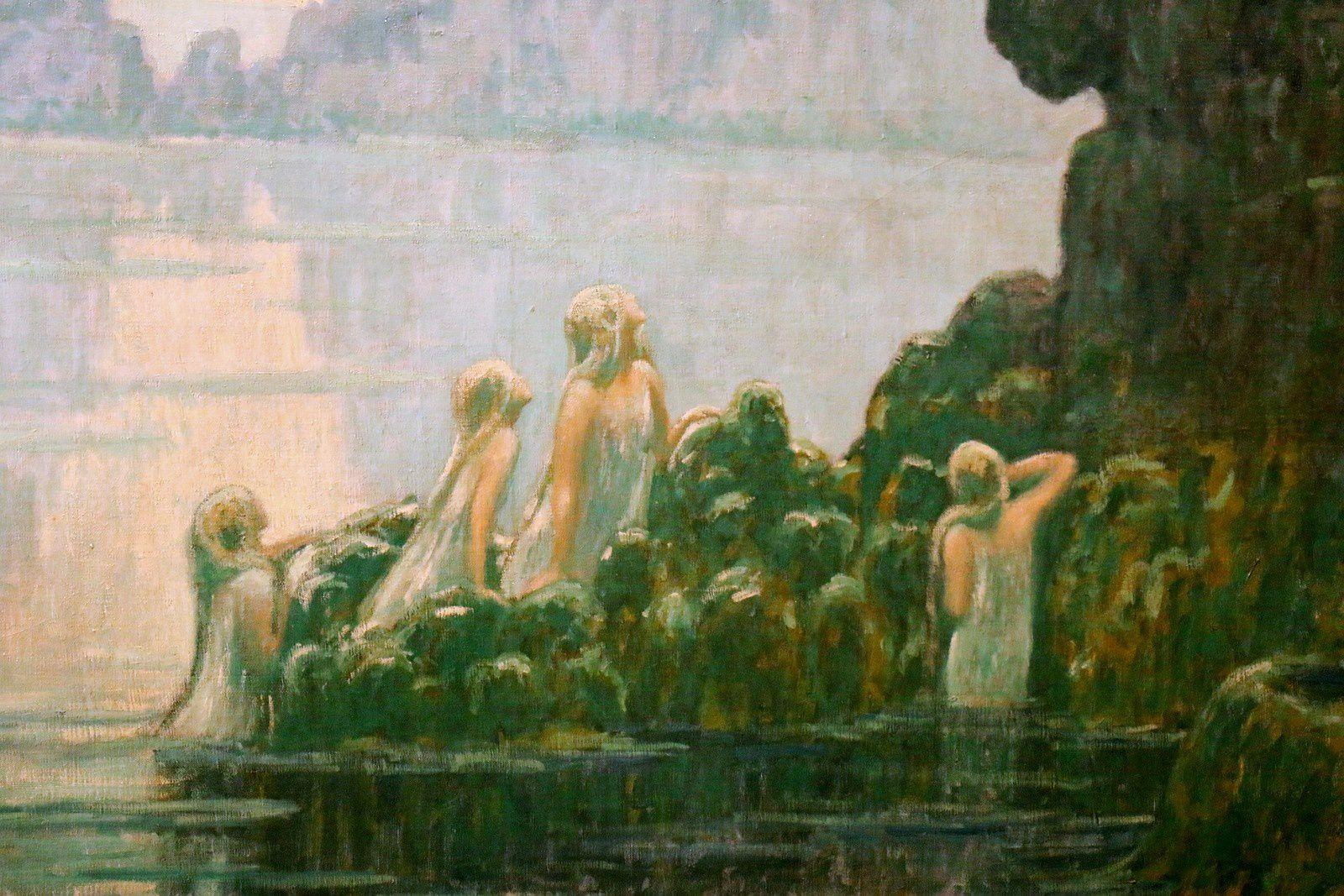 Les Nymphes, la forêt et la mer, tableau de Francis Aubertin
