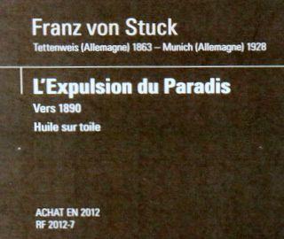 L'expulsion du Paradis, tableau de Franz von Stuck