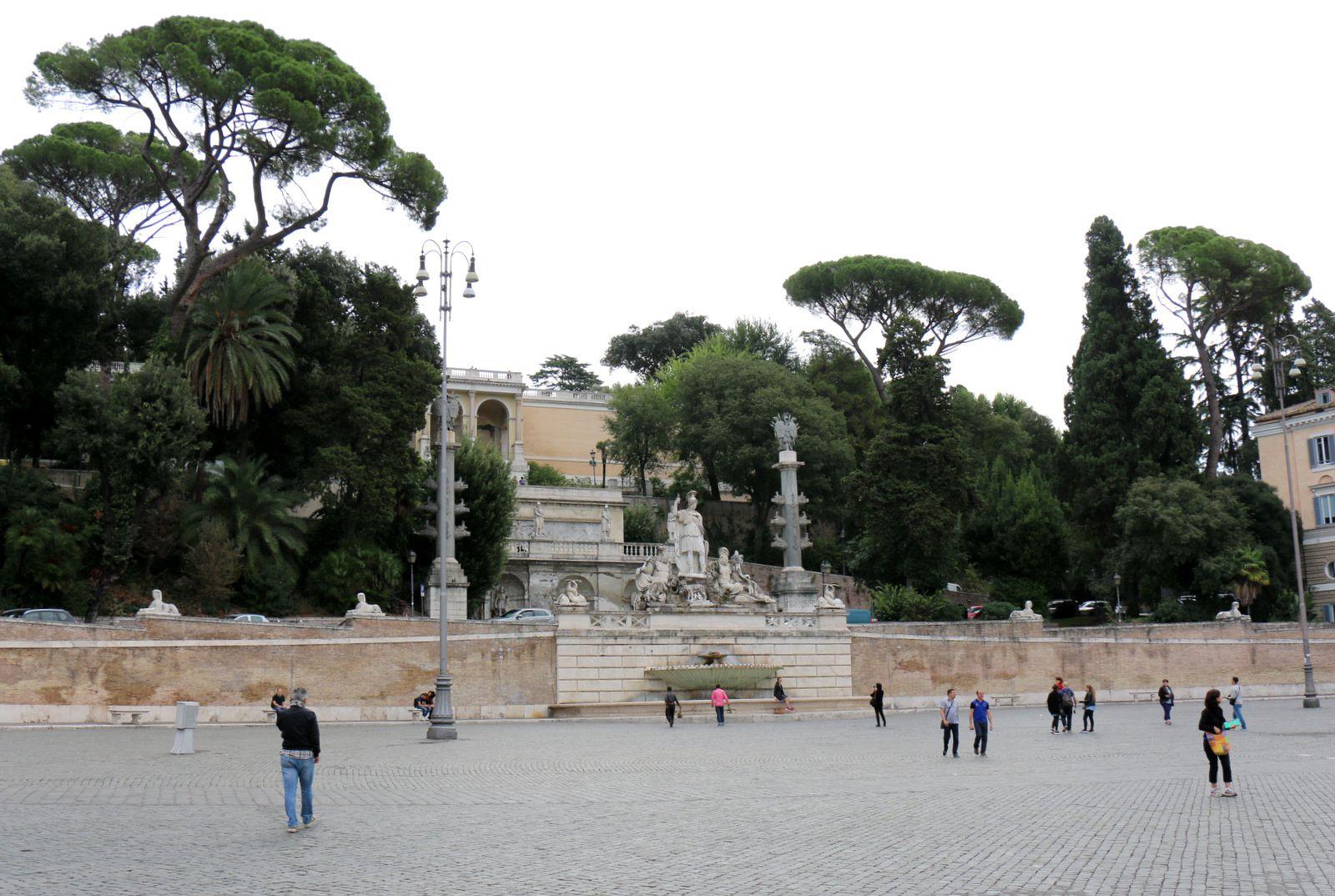 Les fontaines de la Plazza del Populo, Rome