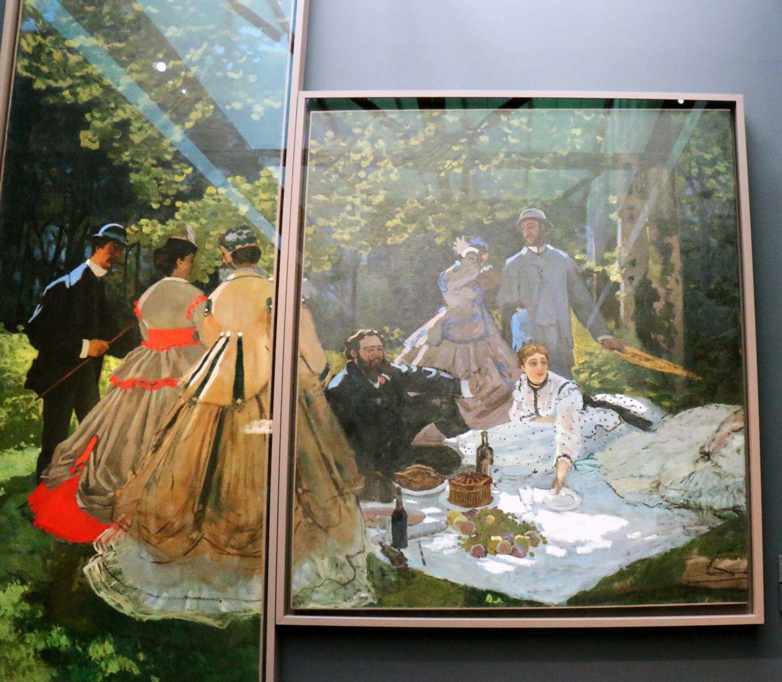 Le déjeuner sur l'herbe, huile sur toile de Claude Monet