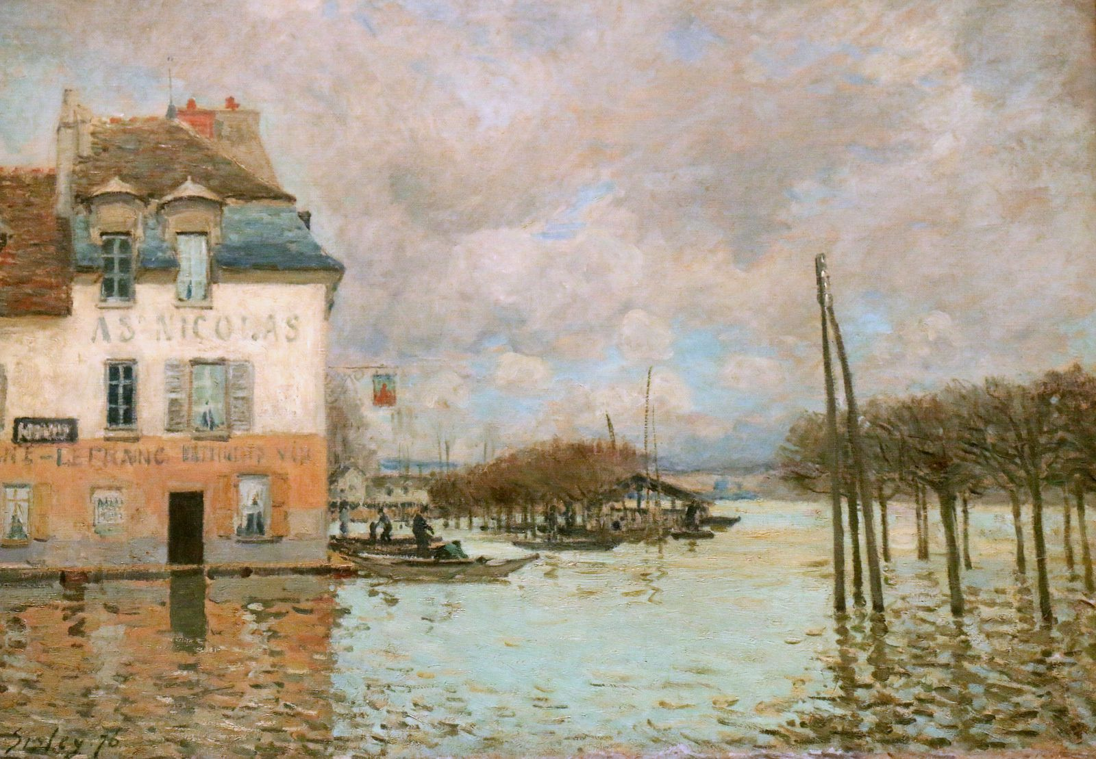L'inondation à Port-Marly, huile sur toile d'Alfred Sisley