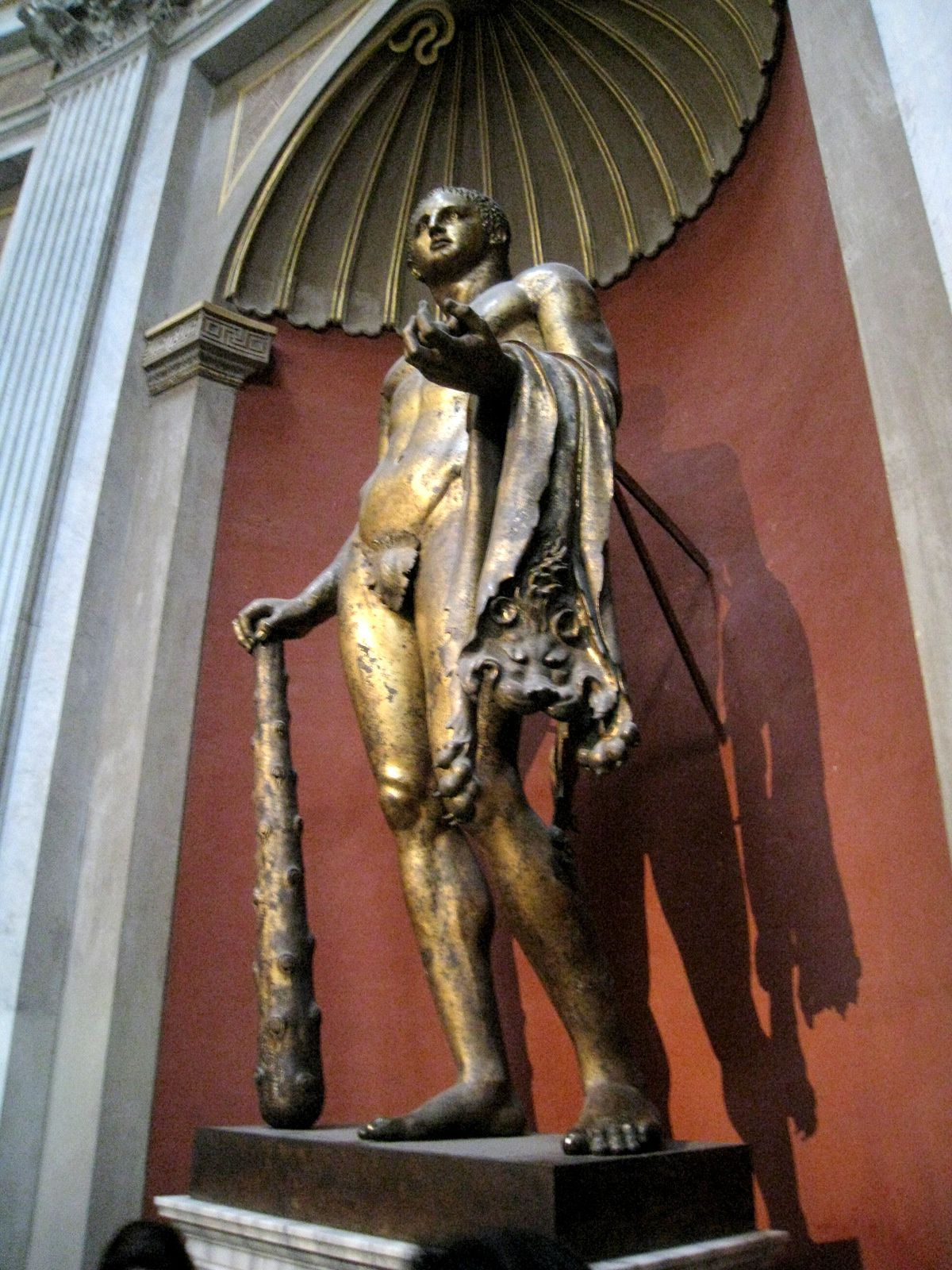 Héraclès, salle ronde du musée Pio-Clémentin (Vatican)