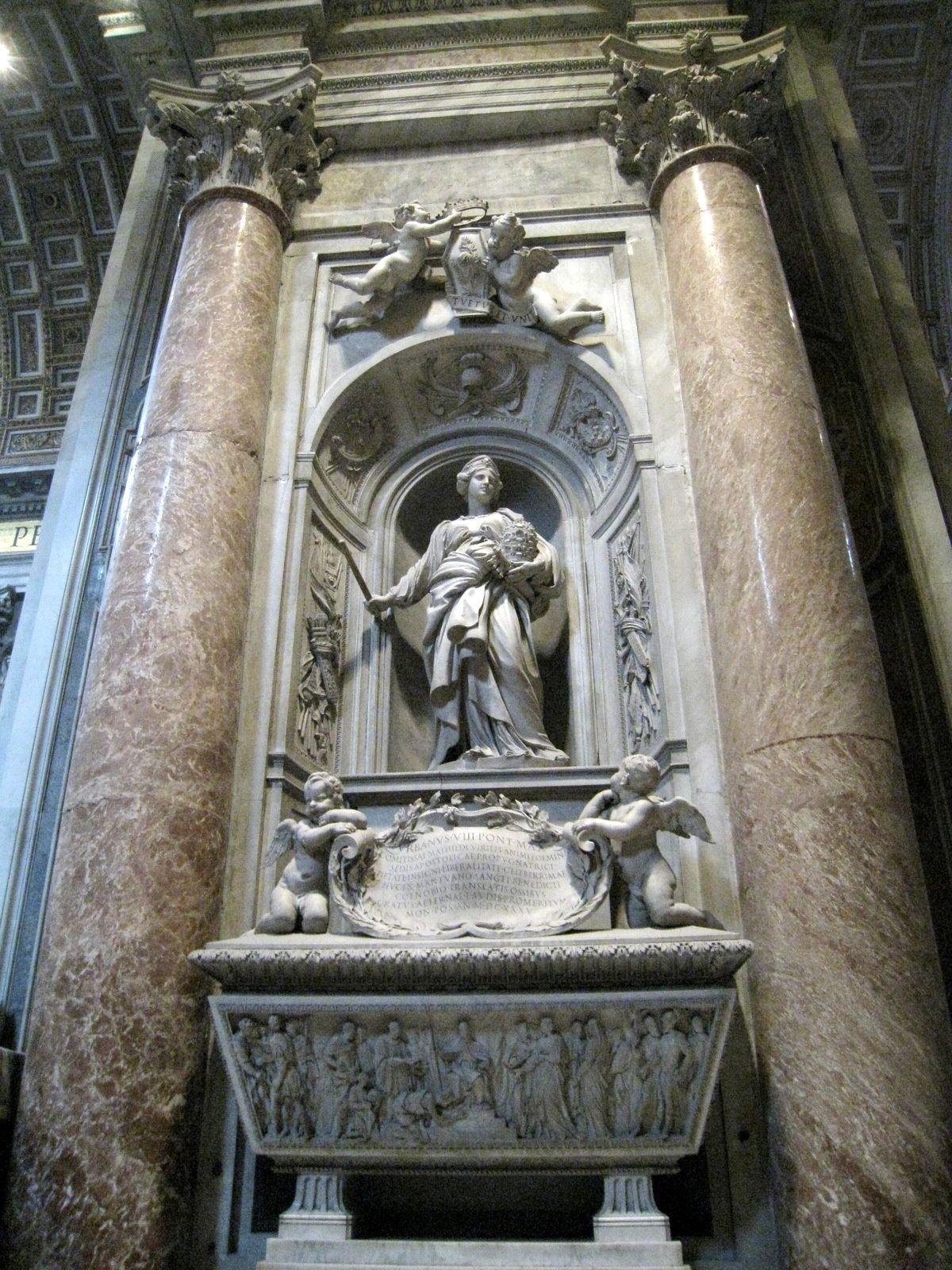 Monuments funéraires de la basilique St Pierre (Vatican)
