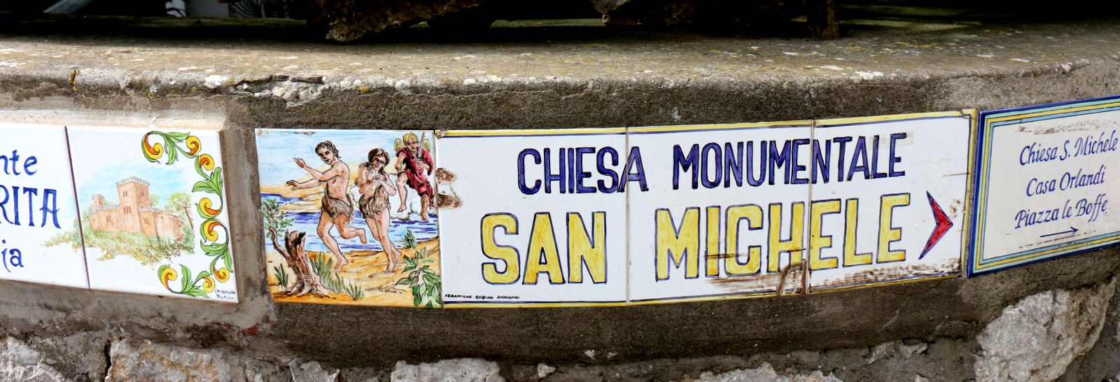 La Casa Rosa et l'église San Michele, Anacapri (Capri)
