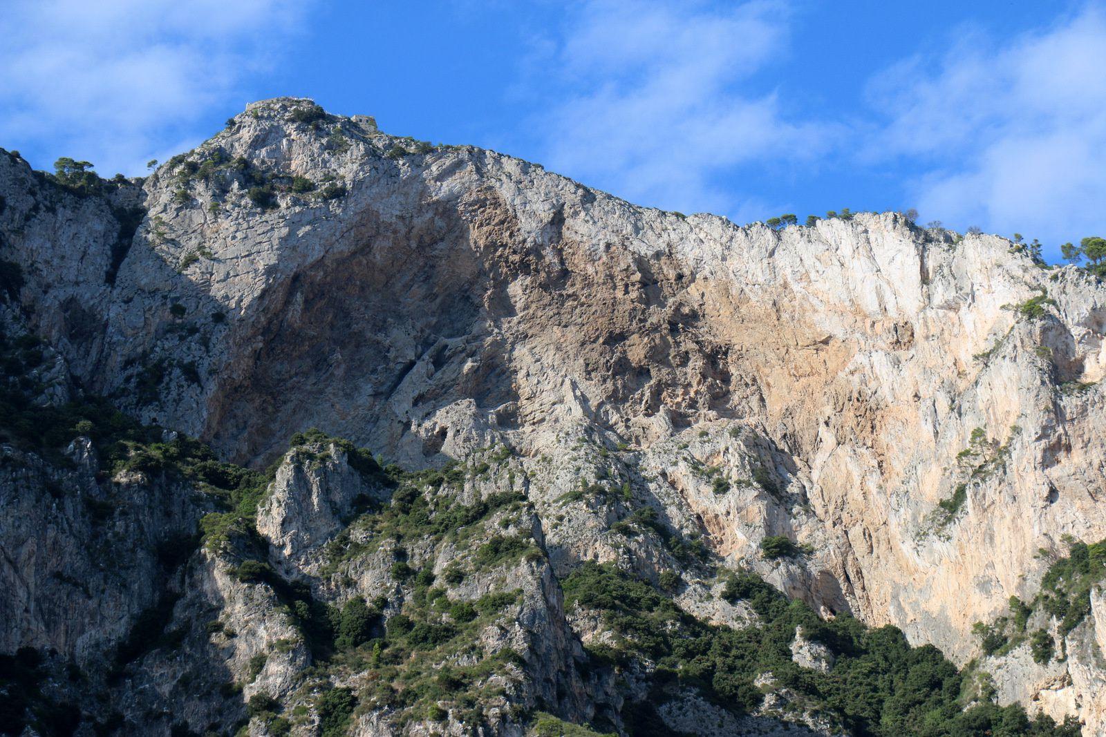 """Sur la """"côte Sud"""" de l'île de Capri"""