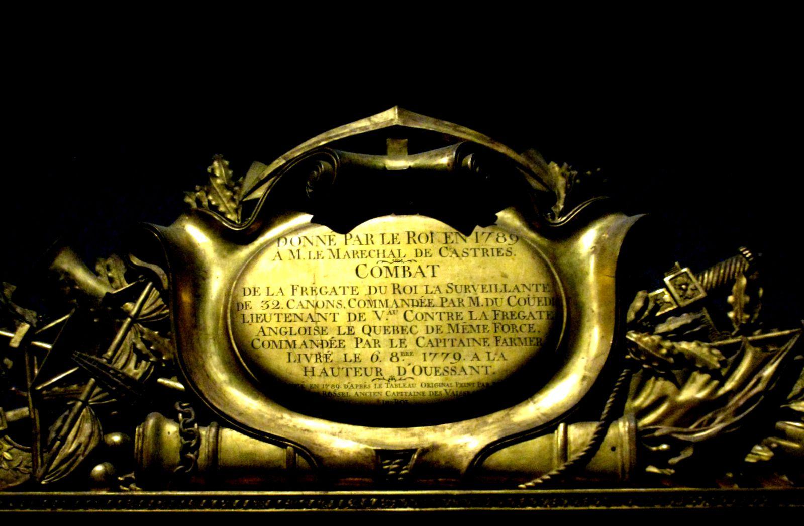 """Auguste-Louis Rossel de Cercy, combat de la frégate française """"La Surveillante"""" contre la frégate anglaise """"Québec"""""""