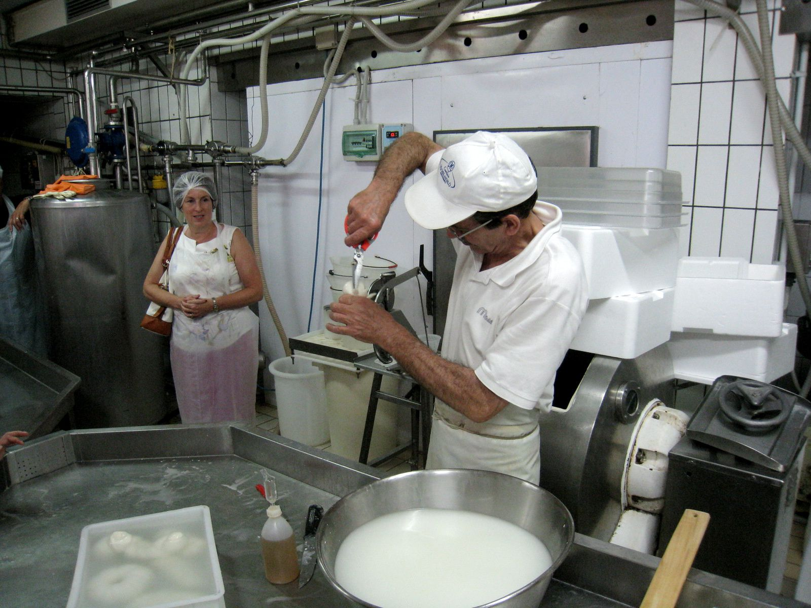 Fabrique de mozzarella (Michelangelo) à Sorrente (Italie)