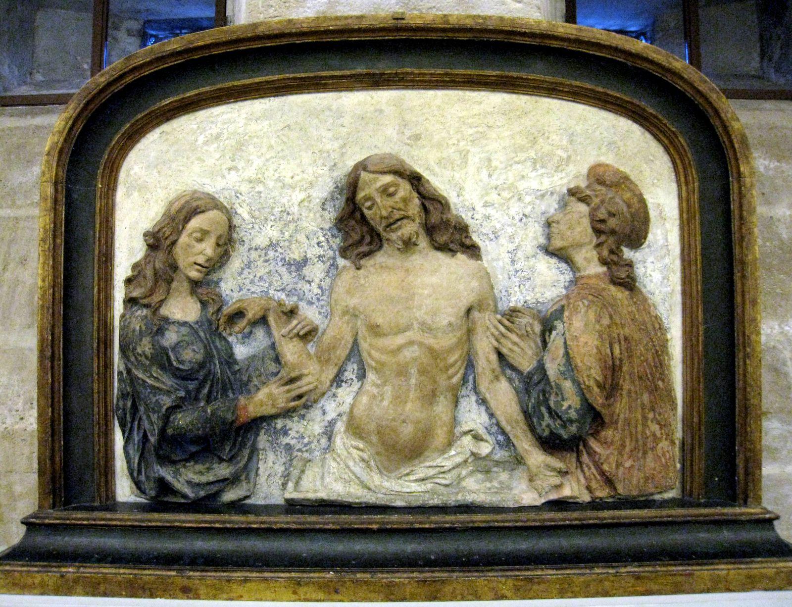 Domenico de Paris, le Christ mort adoré par Saint Jean et la Madeleine