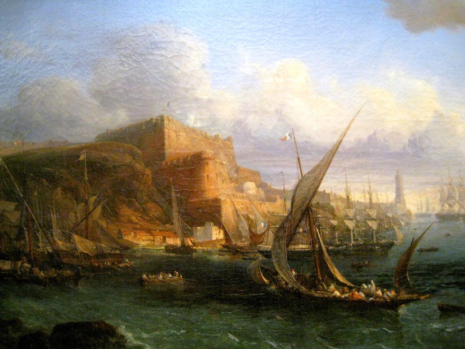 Barthélémy Lauvergne, vue du Fort de Mers El-Kébir