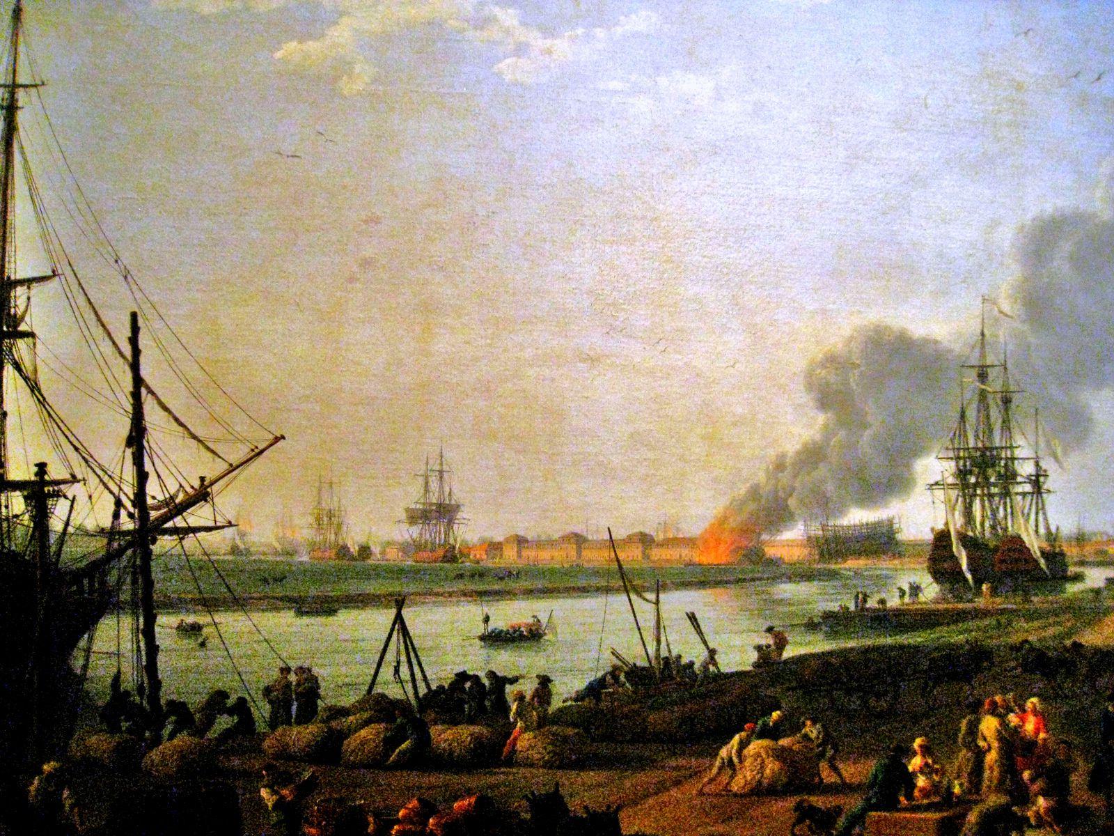 Joseph Vernet, vue du port de Rochefort