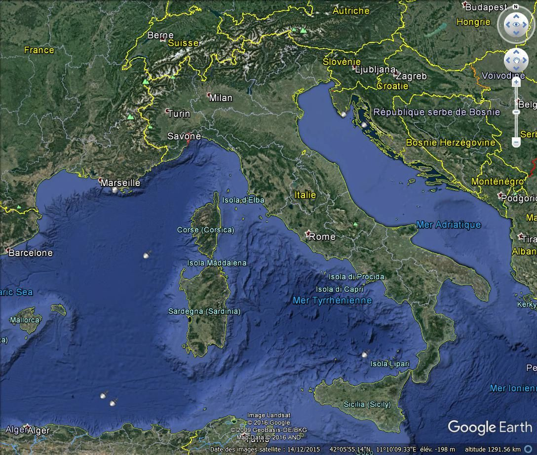 Façades d'immeubles, Savone (Italie)
