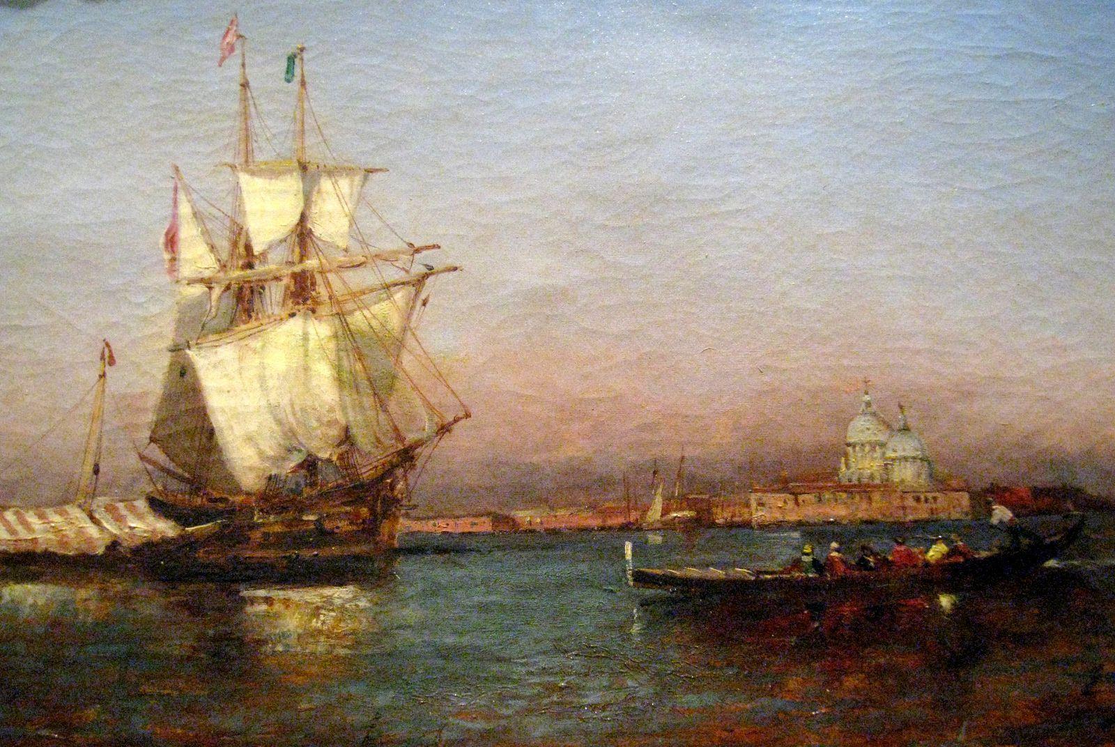Paul Gallard-Lépinay, voilier à l'entrée du Grand Canal à Venise