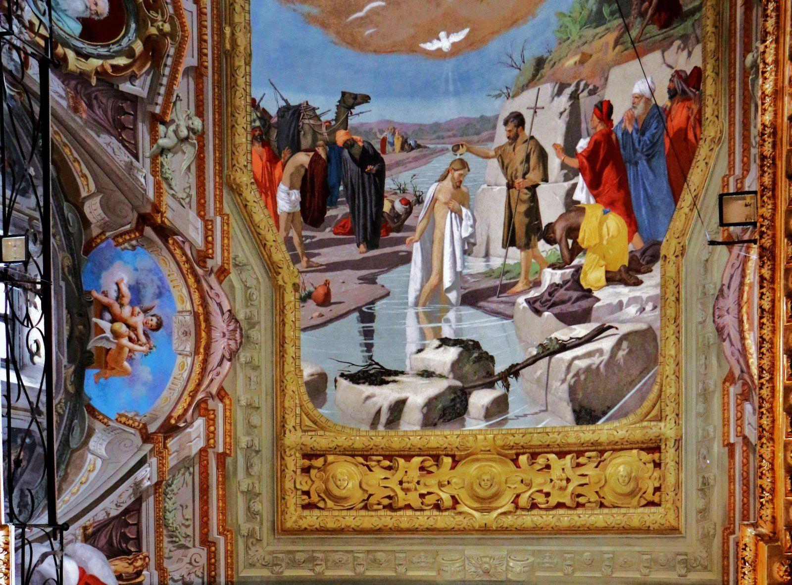 Le baptème du Christ par Saint Jean-Baptiste