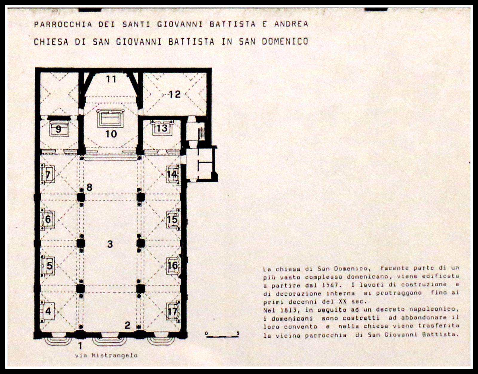 Voute de la nef de l'église San Giovanni Battista à San Domenico, Savone