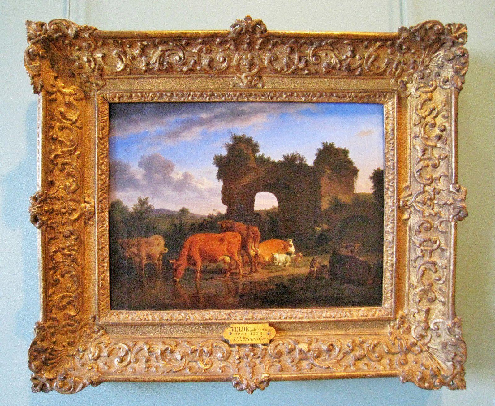Adriaen van de Velde, animaux à la rivière