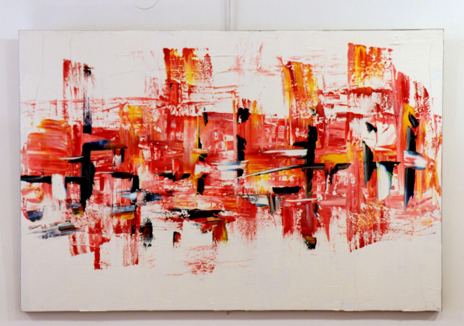 Artiste-plasticien deC, exposition de peintures
