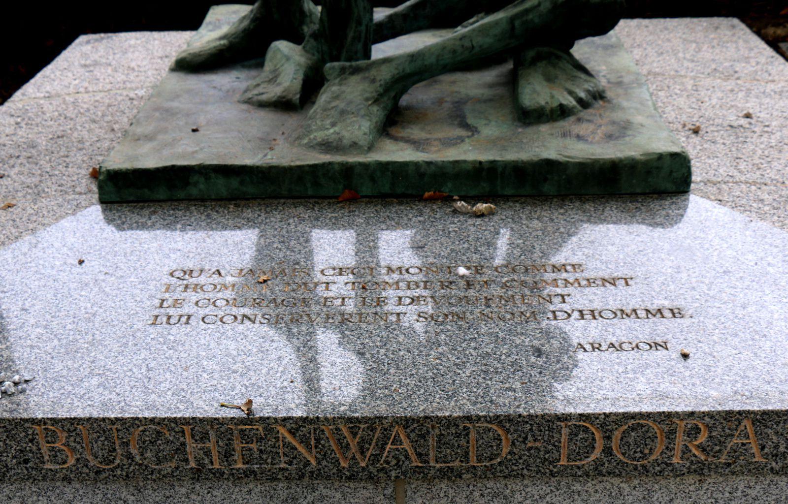 Monument de Buchenwald Dora, cimetière du Père Lachaise