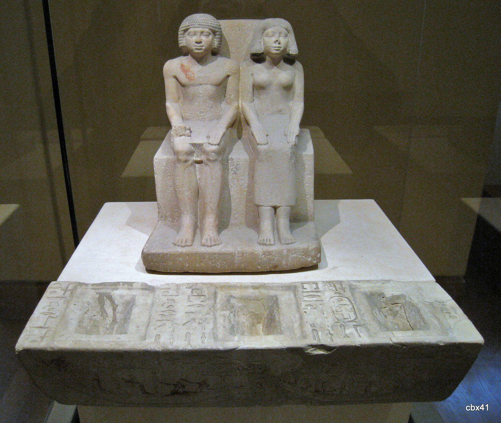 Ankhoudjès, greffier du palais et sa femme Tepemnéfret
