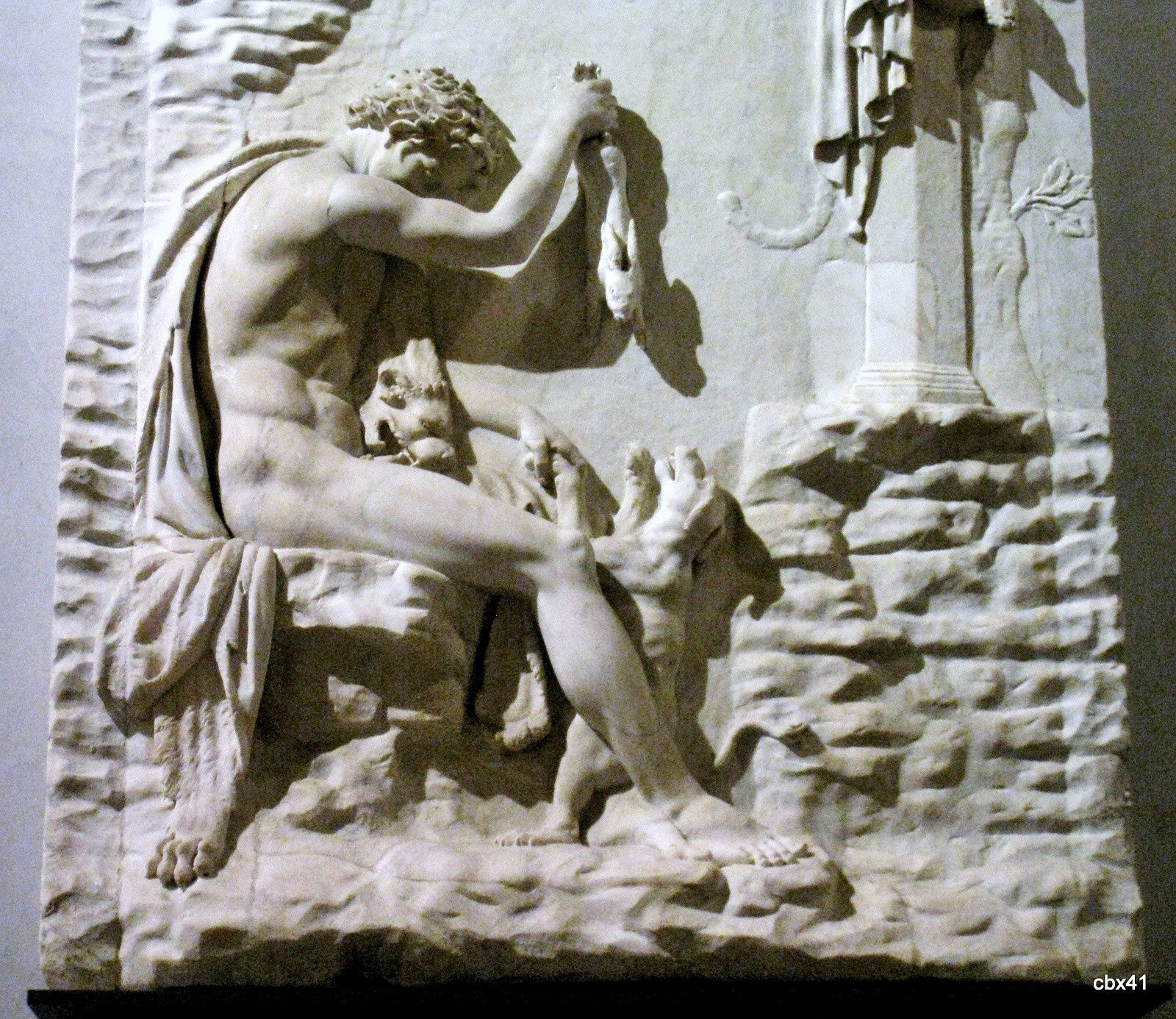 Relief du Satyre chasseur, collection Albani