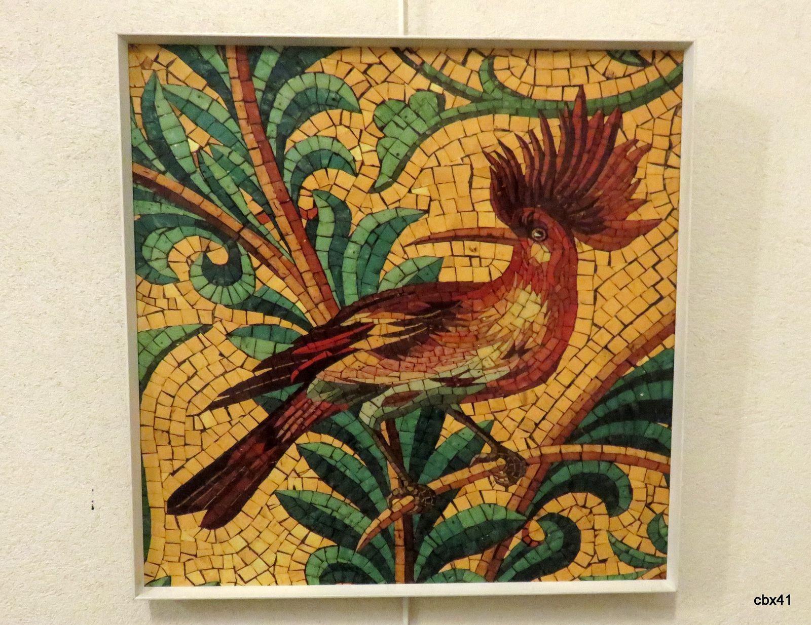 Oiseaux en mosaïque à Notre-Dame de la Garde