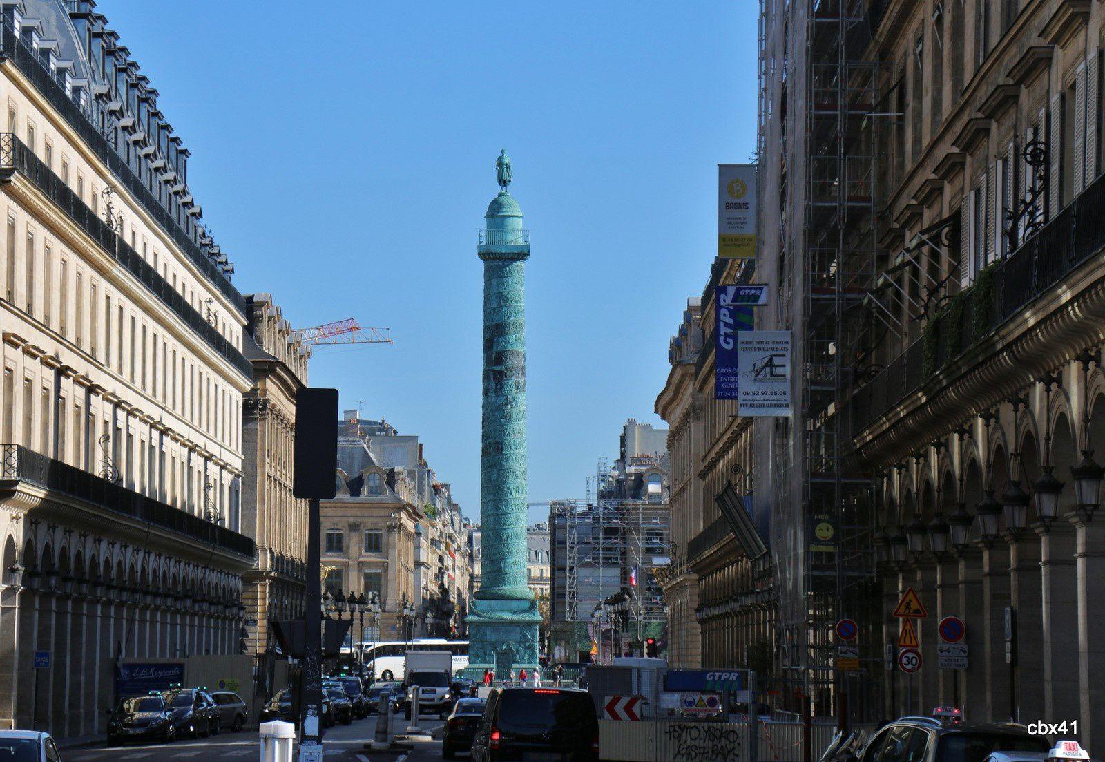 La colonne Vendôme depuis le jardin des Tuileries