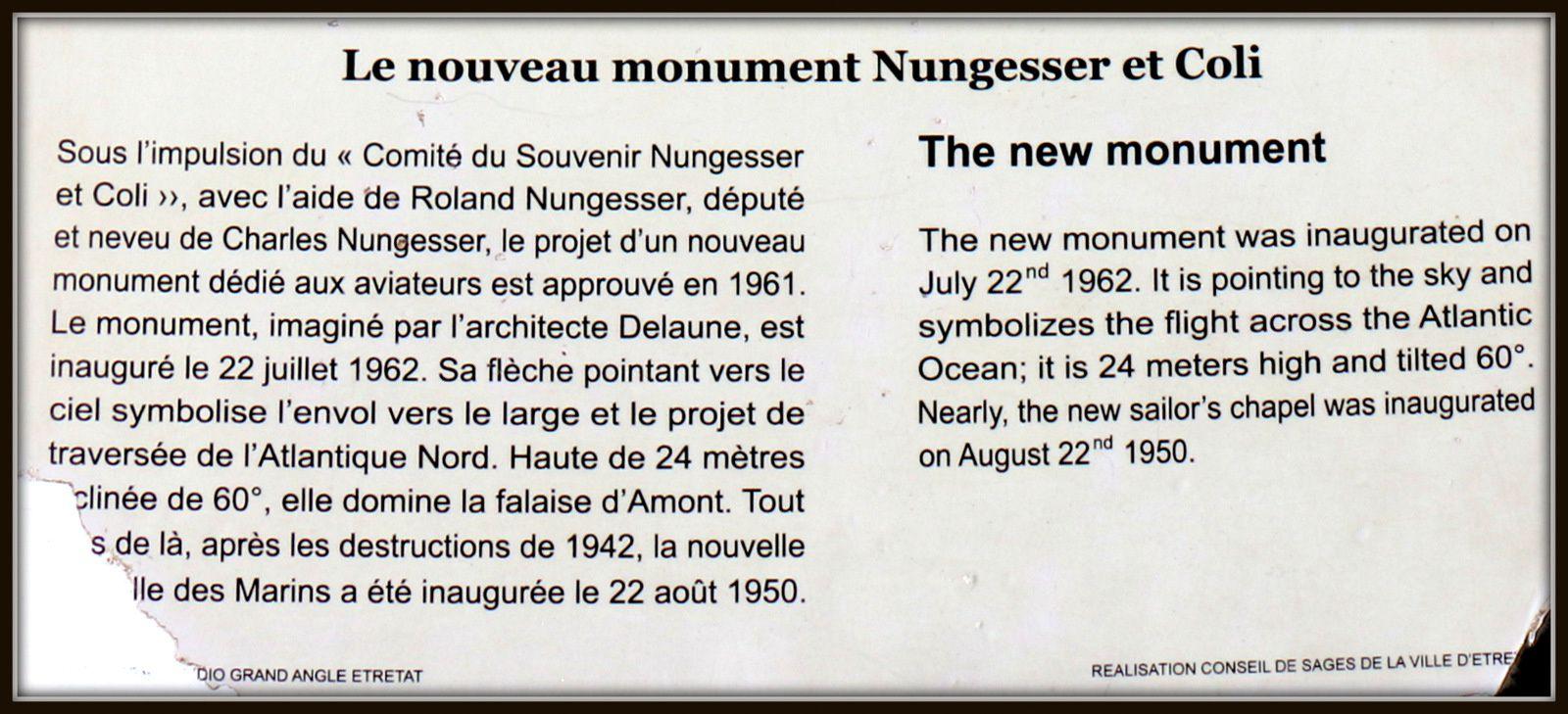 Monument Nungesser et Coli, Etretat
