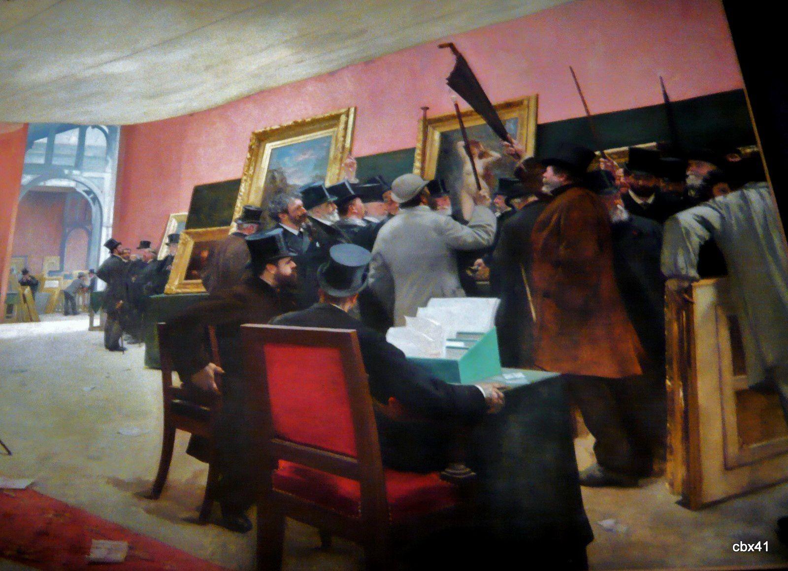 Henri Gervex, une séance du jury de peinture vers 1869