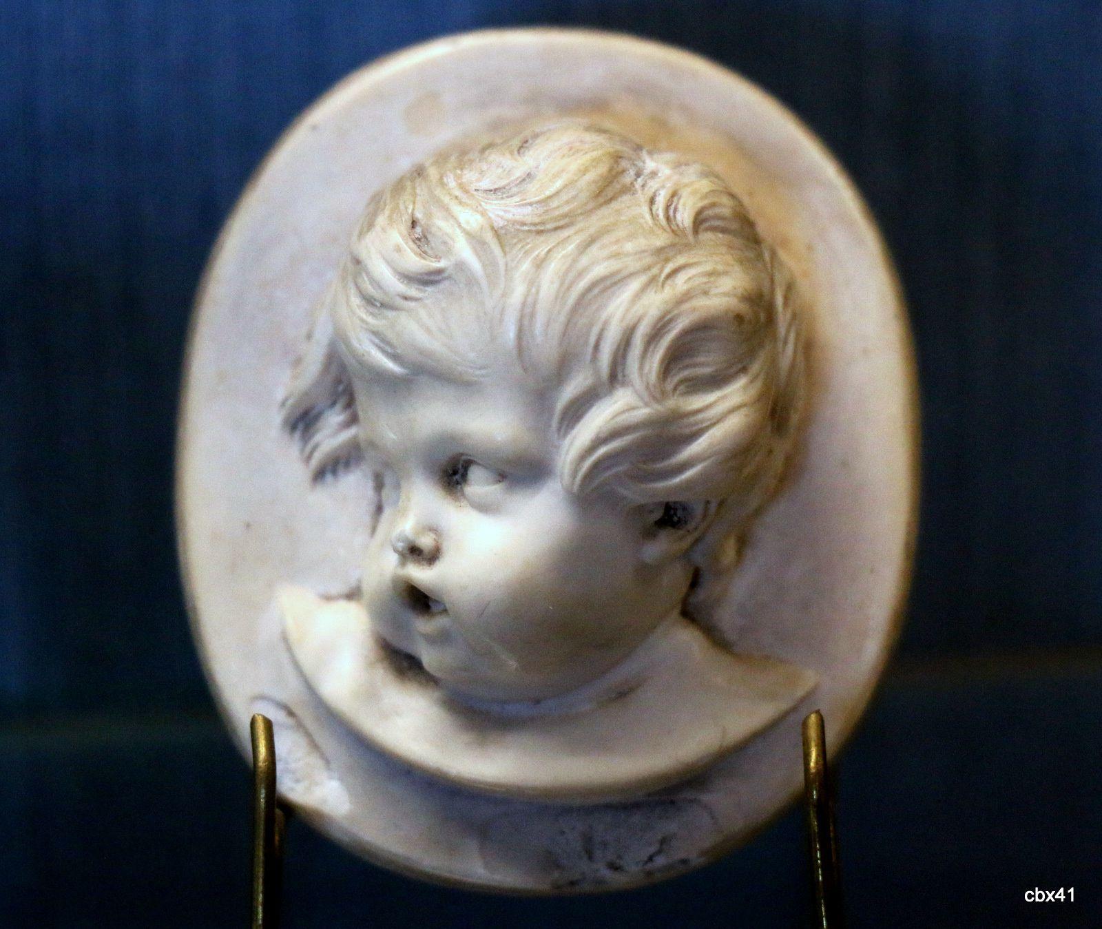 Têtes d'enfants (ivoire), château-musée de Dieppe