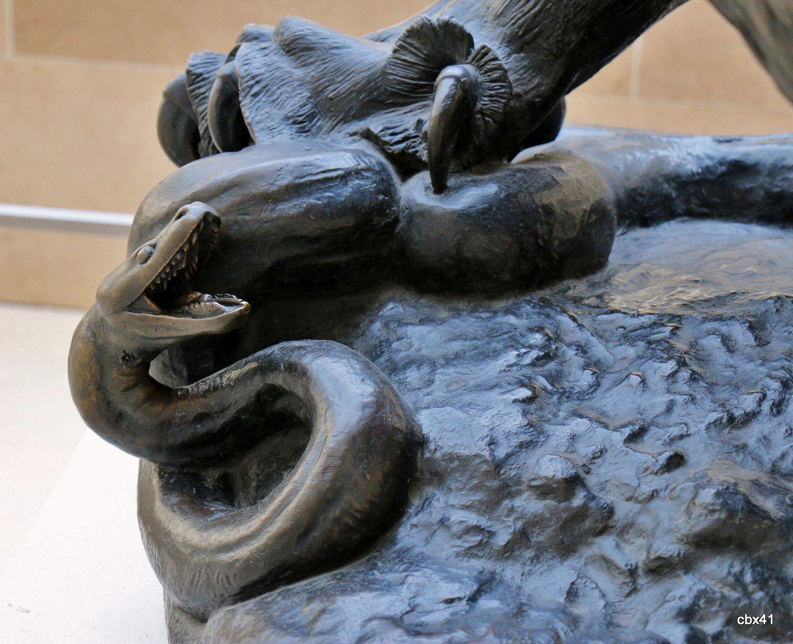 Antoine-Louis Barye, Lion au serpent