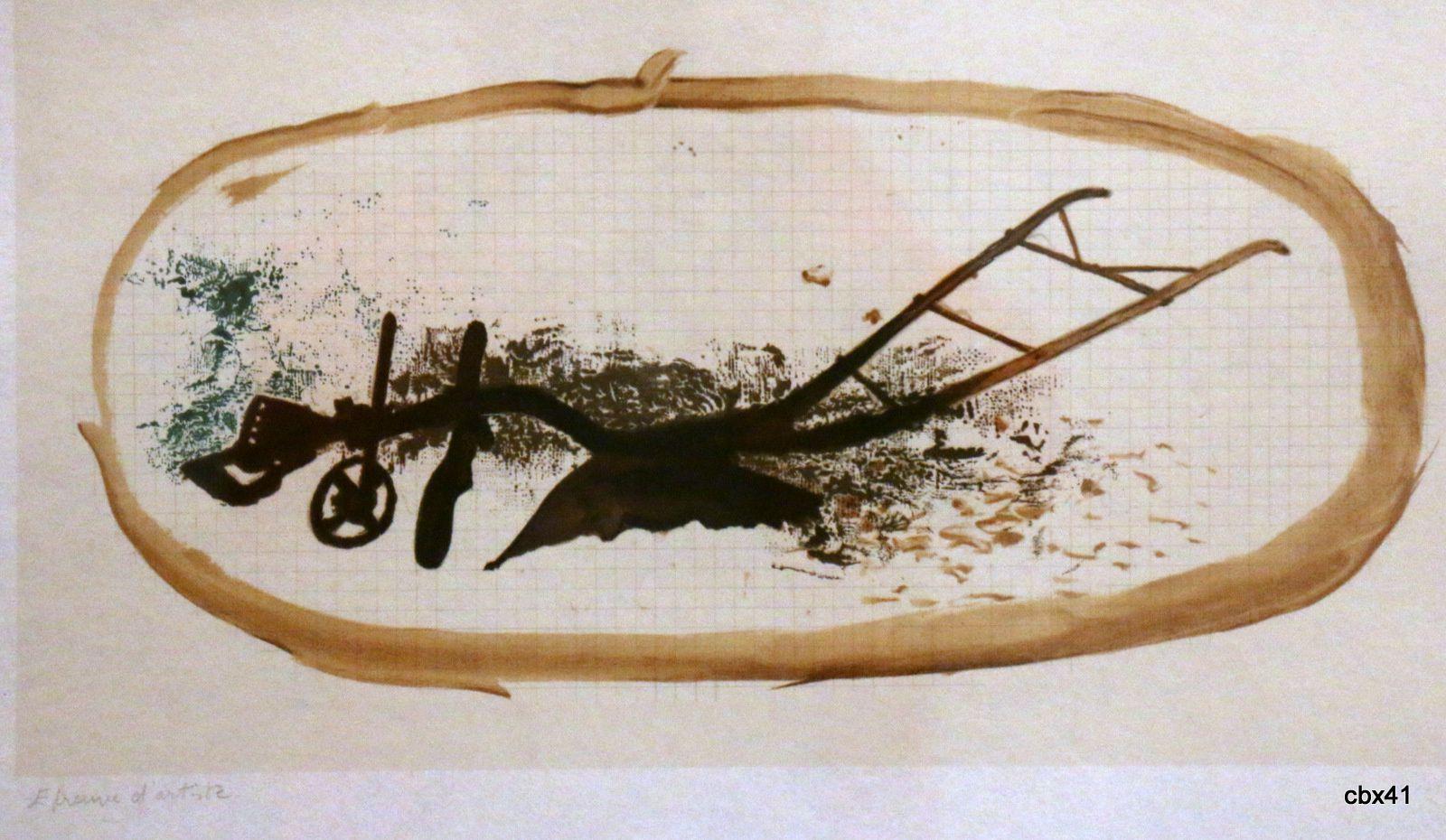 La charrue, lithographie