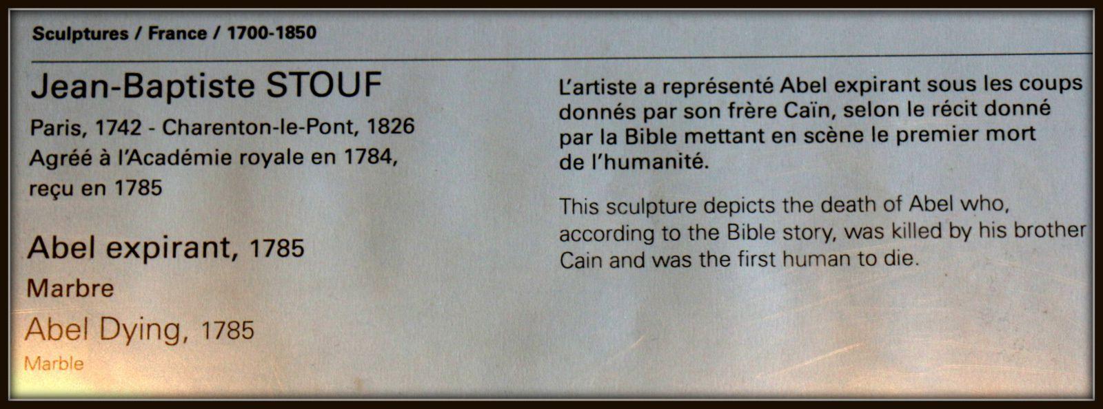 Jean-Baptiste Stouf, Abel expirant