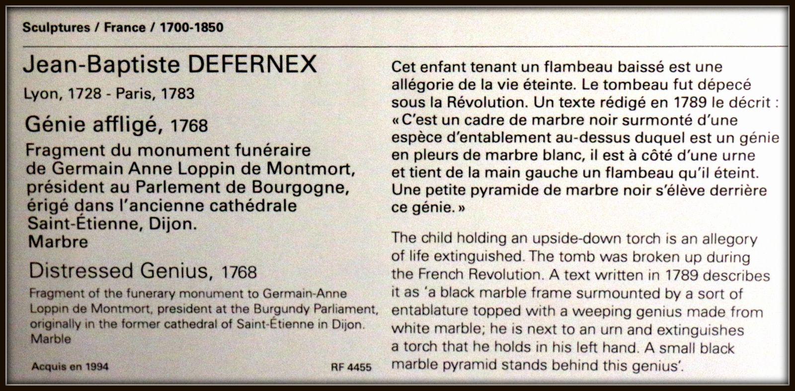 Jean-Baptiste Defernex, Génie affligé