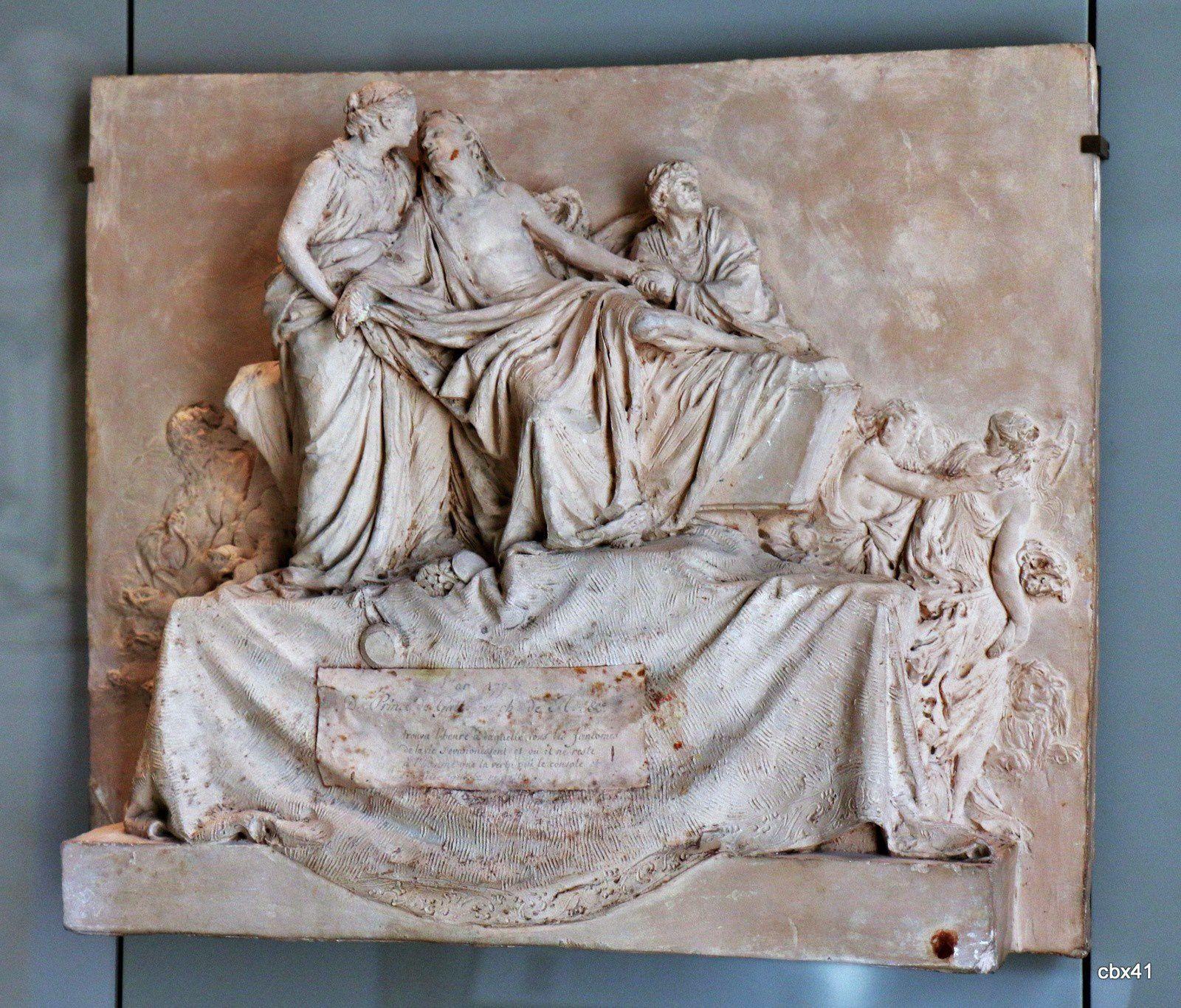 Jean Antoine Houdon, Esquisse du monument funéraire du prince Alexandre Mikhaïlovitch Golitsyne