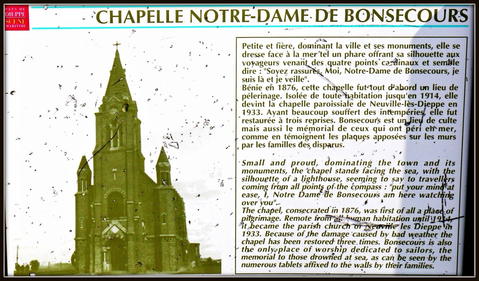 Mosaïques de l'Association Oxygène, Chapelle Notre Dame de Bonsecours