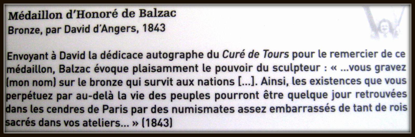 David d'Angers, Médaillon d'Honoré de Balzac