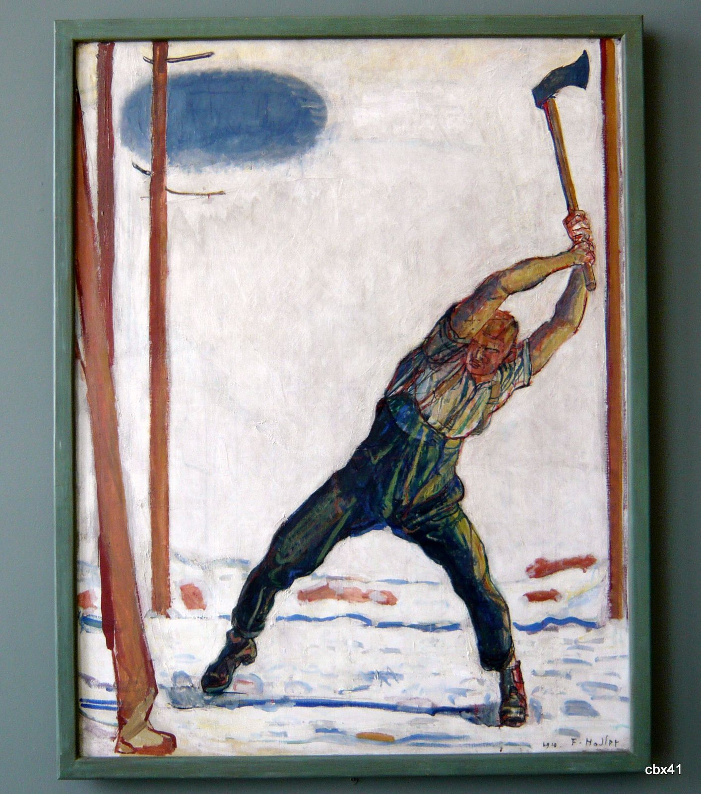 Ferdinand Hodler, Le Bûcheron
