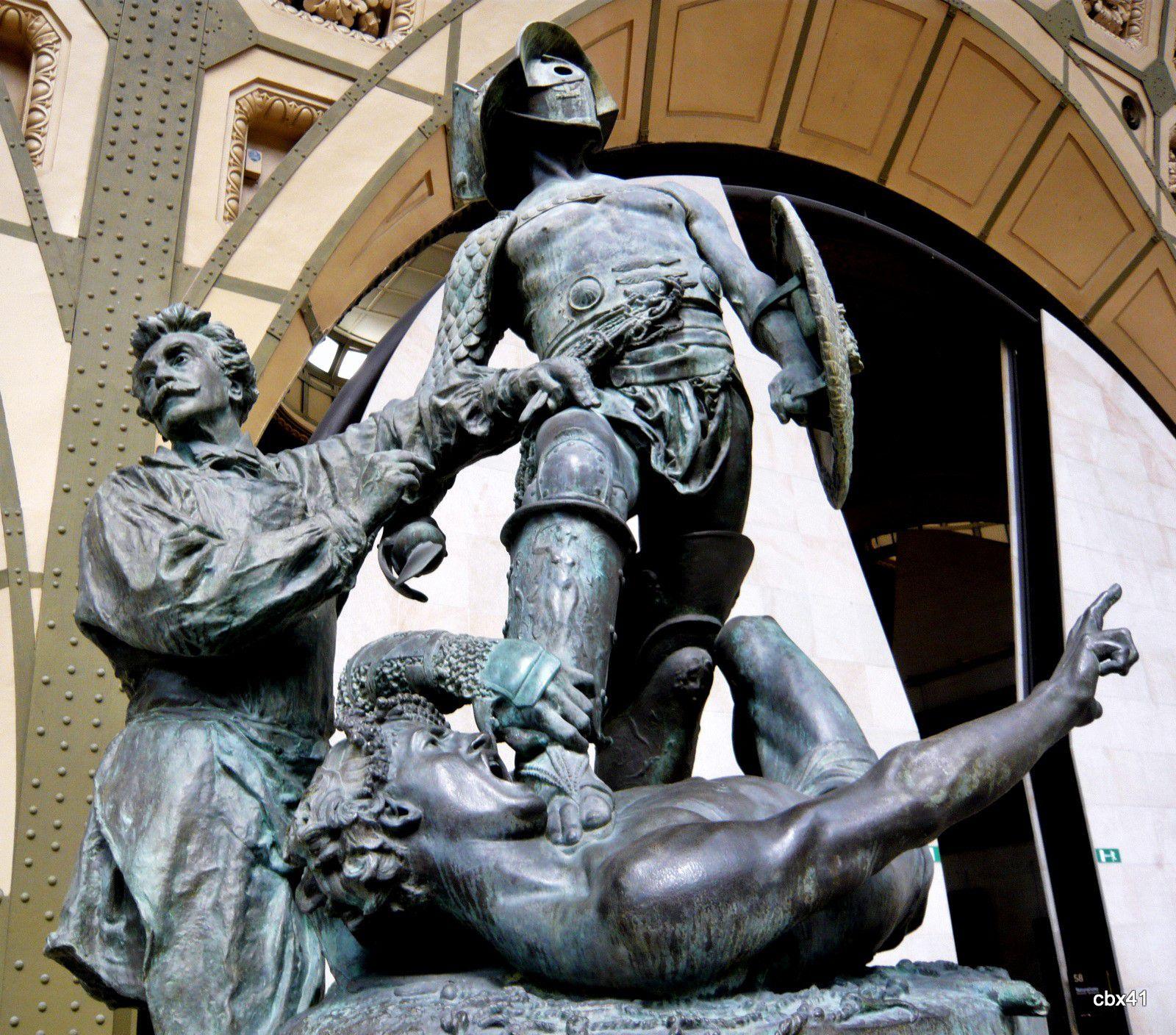 Jean-Léon Jérôme et Aimé Morot, Gérôme exécutant Les Gladiateurs