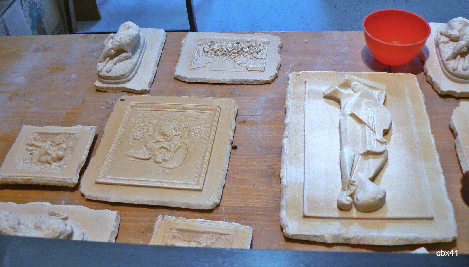 Incrustations sur moulage, Fontaines pétrifiantes de St Nectaire