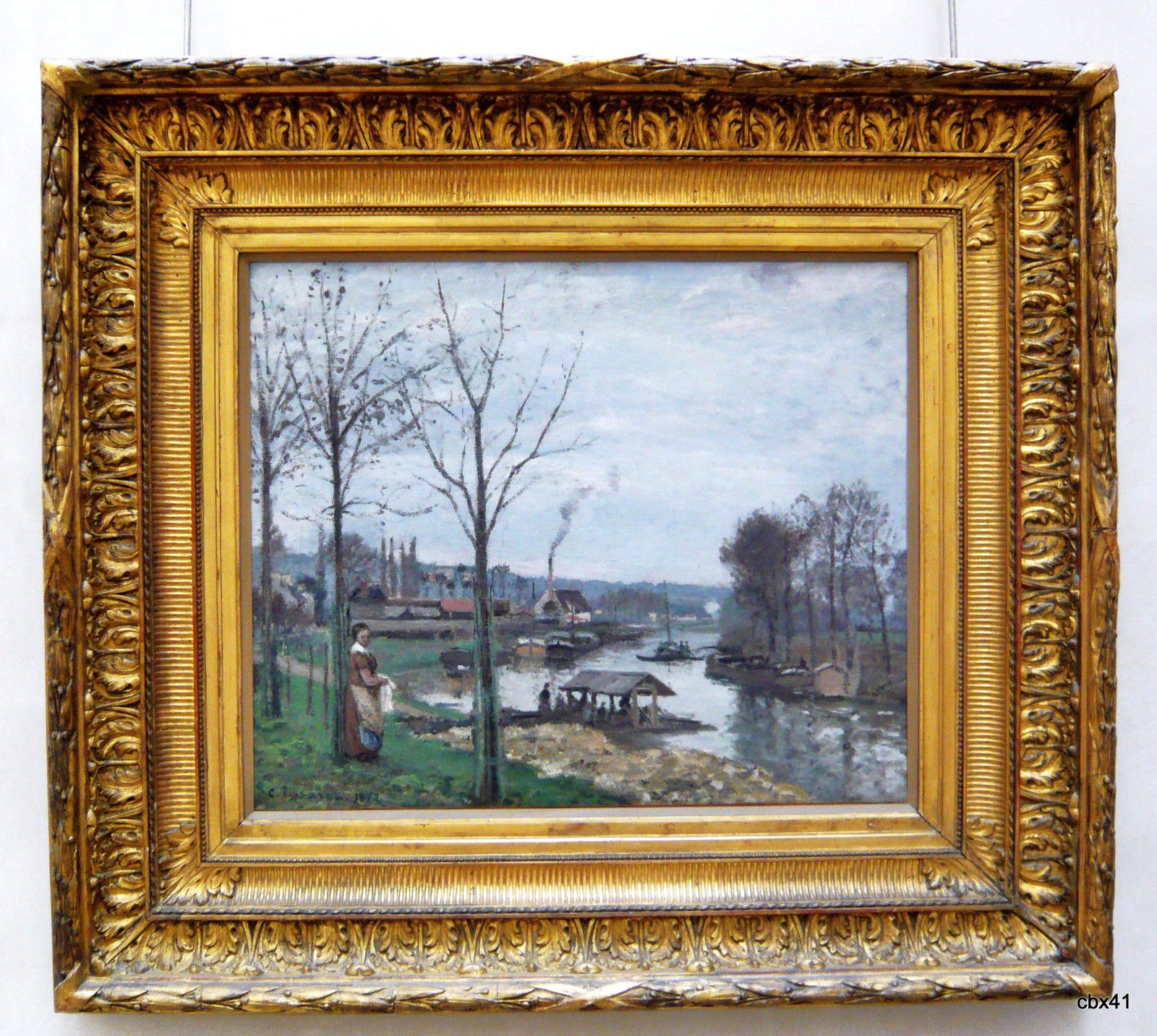 Camille Pissaro, Port-Marly (le lavoir)