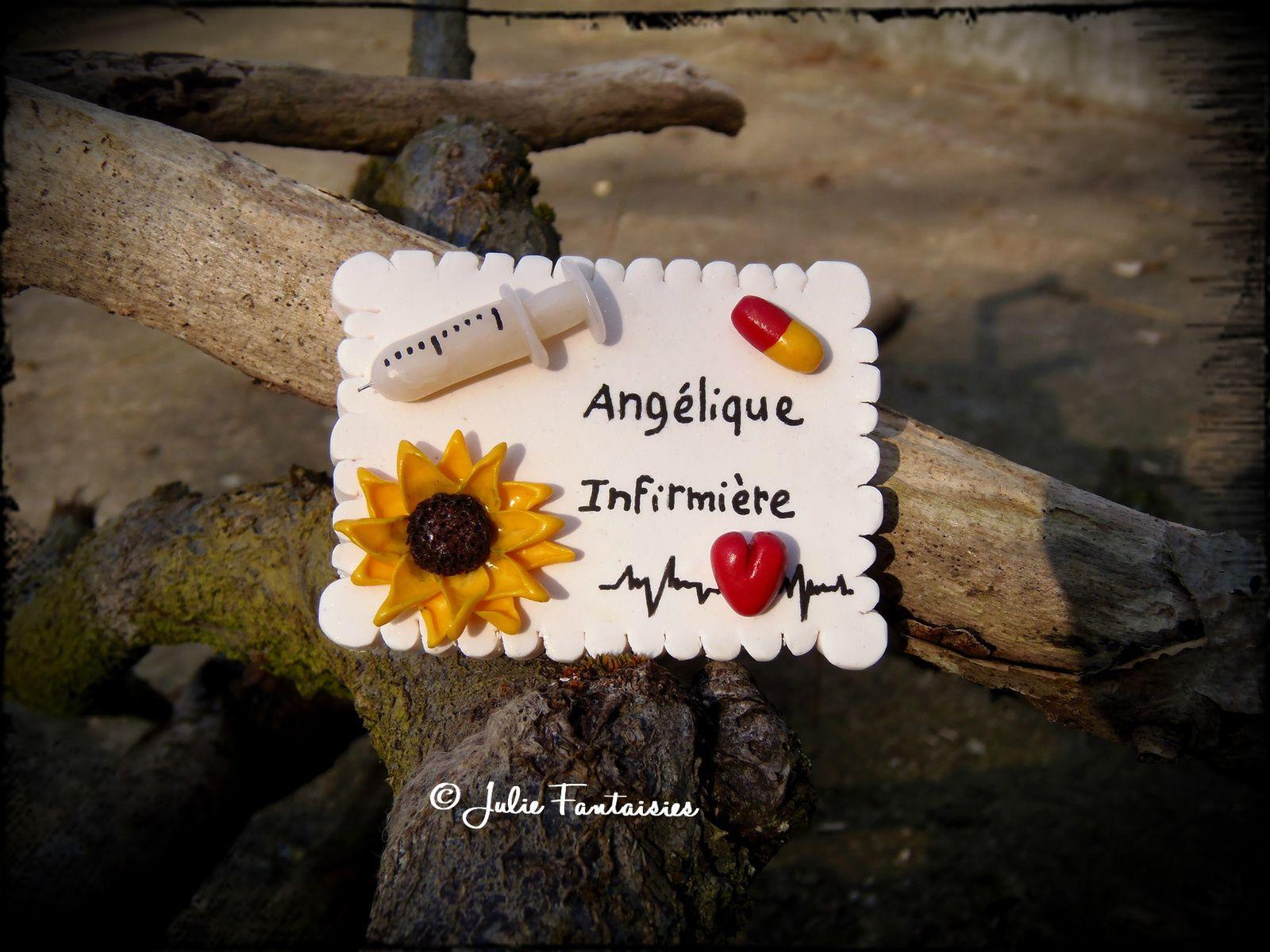Badge pour Angélique Infirmière
